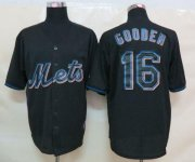 Wholesale Cheap Mets #16 Dwight Gooden Black Fashion Stitched MLB Jersey