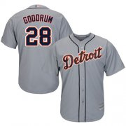 Wholesale Cheap Tigers #28 Niko Goodrum Grey New Cool Base Stitched MLB Jersey
