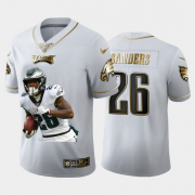 Cheap Philadelphia Eagles #26 Miles Sanders Nike Team Hero 2 Vapor Limited NFL 100 Jersey White Golden