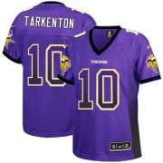 Wholesale Cheap Nike Vikings #10 Fran Tarkenton Purple Team Color Women's Stitched NFL Elite Drift Fashion Jersey