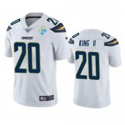 Wholesale Cheap Los Angeles Chargers #20 Desmond King White 60th Anniversary Vapor Limited NFL Jersey