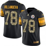 Wholesale Cheap Nike Steelers #78 Alejandro Villanueva Black/Camo Men's Stitched NFL Limited Rush Jersey