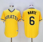 Wholesale Cheap Pirates #6 Starling Marte Gold New Cool Base Stitched MLB Jersey