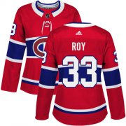 Wholesale Cheap Adidas Canadiens #33 Patrick Roy Red Home Authentic Women's Stitched NHL Jersey