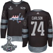 Wholesale Cheap Adidas Capitals #74 John Carlson Black 1917-2017 100th Anniversary Stanley Cup Final Champions Stitched NHL Jersey