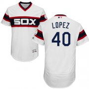 Wholesale Cheap White Sox #40 Reynaldo Lopez White Flexbase Authentic Collection Alternate Home Stitched MLB Jersey
