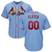 Wholesale Cheap St. Louis Cardinals Majestic Alternate Cool Base Custom Jersey Light Blue