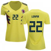 Wholesale Cheap Women's Colombia #22 Lerma Home Soccer Country Jersey