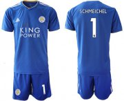 Wholesale Cheap Leicester City #1 Schmeichel Home Soccer Club Jersey