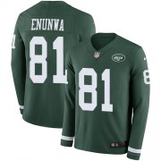 Wholesale Cheap Nike Jets #81 Quincy Enunwa Green Team Color Men's Stitched NFL Limited Therma Long Sleeve Jersey