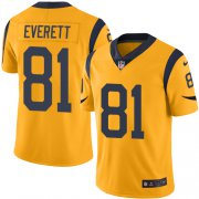 Wholesale Cheap Nike Rams #81 Gerald Everett Gold Youth Stitched NFL Limited Rush Jersey