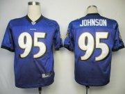 Wholesale Cheap Ravens #95 Jarret Johnson Purple Stitched NFL Jersey