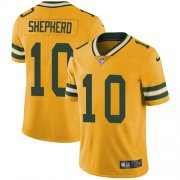 Wholesale Cheap Nike Packers #10 Darrius Shepherd Yellow Men's Stitched NFL Limited Rush Jersey