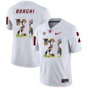 Wholesale Cheap Washington State Cougars 21 Max Borghi White Fashion College Football Jersey