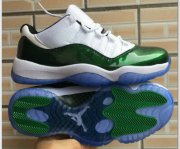 Wholesale Cheap Air Jordan 11 Low Easter White/Emerald Rise-Black