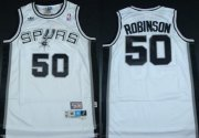 Wholesale Cheap San Antonio Spurs #50 David Robinson White Swingman Throwback Jersey