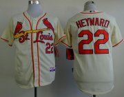 Wholesale Cheap Cardinals #22 Jason Heyward Cream Cool Base Stitched MLB Jersey