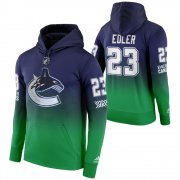 Wholesale Cheap Vancouver Canucks #23 Alexander Edler Adidas Reverse Retro Pullover Hoodie Green