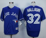 Wholesale Cheap Blue Jays #32 Roy Halladay Blue Cool Base Stitched MLB Jersey