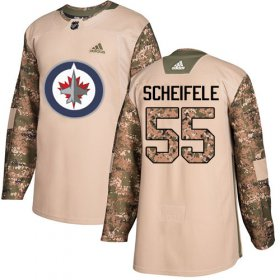 Wholesale Cheap Adidas Jets #55 Mark Scheifele Camo Authentic 2017 Veterans Day Stitched Youth NHL Jersey