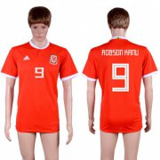 Wholesale Cheap Wales #9 Robson Kanu Red Home Soccer Club Jersey