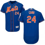 Wholesale Cheap Mets #24 Robinson Cano Blue Flexbase Authentic Collection Stitched MLB Jersey