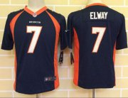 Wholesale Cheap Nike Broncos #7 John Elway Blue Alternate Youth Stitched NFL New Elite Jersey
