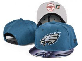 Wholesale Cheap Eagles Team Logo Blue Adjustable Hat SF