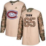Wholesale Cheap Adidas Canadiens #65 Andrew Shaw Camo Authentic 2017 Veterans Day Stitched Youth NHL Jersey