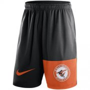 Wholesale Cheap Men's Baltimore Orioles Nike Black Cooperstown Collection Dry Fly Shorts