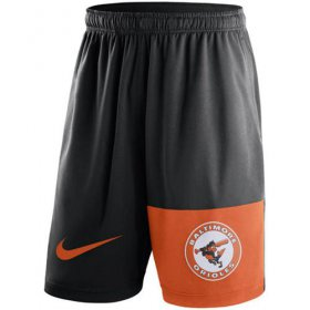 Wholesale Cheap Men\'s Baltimore Orioles Nike Black Cooperstown Collection Dry Fly Shorts