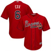 Wholesale Cheap Braves #6 Bobby Cox Red Cool Base Stitched Youth MLB Jersey