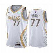 Wholesale Cheap Nike Mavericks #77 Luka Doncic White NBA Swingman 2020-21 City Edition Jersey
