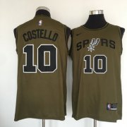 Wholesale Cheap San Antonio Spurs #10 Matt Costello Olive Nike Swingman Jersey
