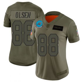 Wholesale Cheap Nike Panthers #88 Greg Olsen Camo Women\'s Stitched NFL Limited 2019 Salute to Service Jersey