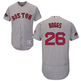 Wholesale Cheap Red Sox #26 Wade Boggs Grey Flexbase Authentic Collection 2018 World Series Champions Stitched MLB Jersey