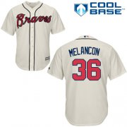 Wholesale Cheap Braves #36 Mark Melancon Cream New Cool Base Stitched MLB Jersey