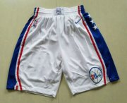 Wholesale Cheap Nike Philadelphia 76ers White Swingman Shorts