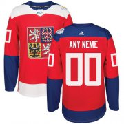 Wholesale Cheap Men's Adidas Team Czech Republic Personalized Authentic Red Road 2016 World Cup NHL Jersey