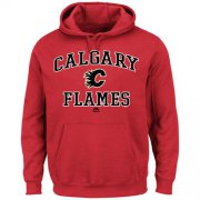 Wholesale Cheap Calgary Flames Majestic Heart & Soul Hoodie Red