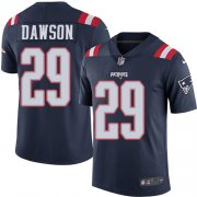 Wholesale Cheap Nike Patriots #29 Duke Dawson Navy Blue Men's Stitched NFL Limited Rush Jersey