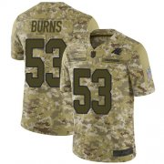 Wholesale Cheap Nike Panthers #53 Brian Burns Camo Men's Stitched NFL Limited 2018 Salute To Service Jersey