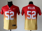 Wholesale Cheap Nike 49ers #52 Patrick Willis Red/Gold Youth Stitched NFL Elite Fadeaway Fashion Jersey