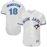 Wholesale Cheap Blue Jays #18 Curtis Granderson White Flexbase Authentic Collection Stitched MLB Jersey