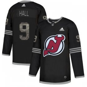 Wholesale Cheap Adidas Devils #9 Taylor Hall Black Authentic Classic Stitched NHL Jersey