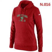 Wholesale Cheap Women's Nike New York Jets Heart & Soul Pullover Hoodie Red