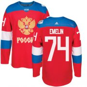 Wholesale Cheap Team Russia #74 Alexei Emelin Red 2016 World Cup Stitched NHL Jersey