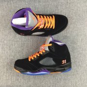 Wholesale Cheap Air Jordan 5 Player Exclusives(PE) Shoes Black Purple Orange Grey