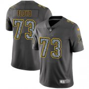 Wholesale Cheap Nike Vikings #73 Sharrif Floyd Gray Static Men's Stitched NFL Vapor Untouchable Limited Jersey