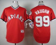 Wholesale Cheap Indians #99 Ricky Vaughn Red 1974 Turn Back The Clock Stitched MLB Jersey